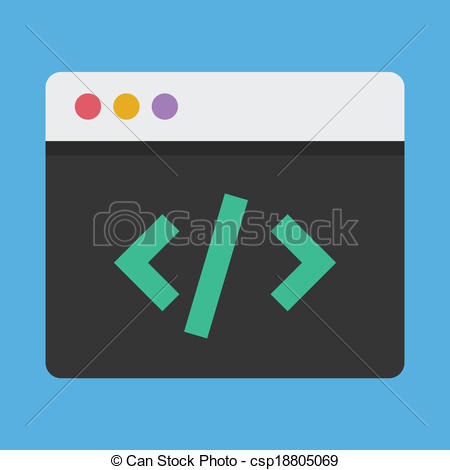 Coding clipart.