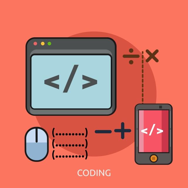 Coding Conceptual Illustration Design, Flat, Network, Website PNG.