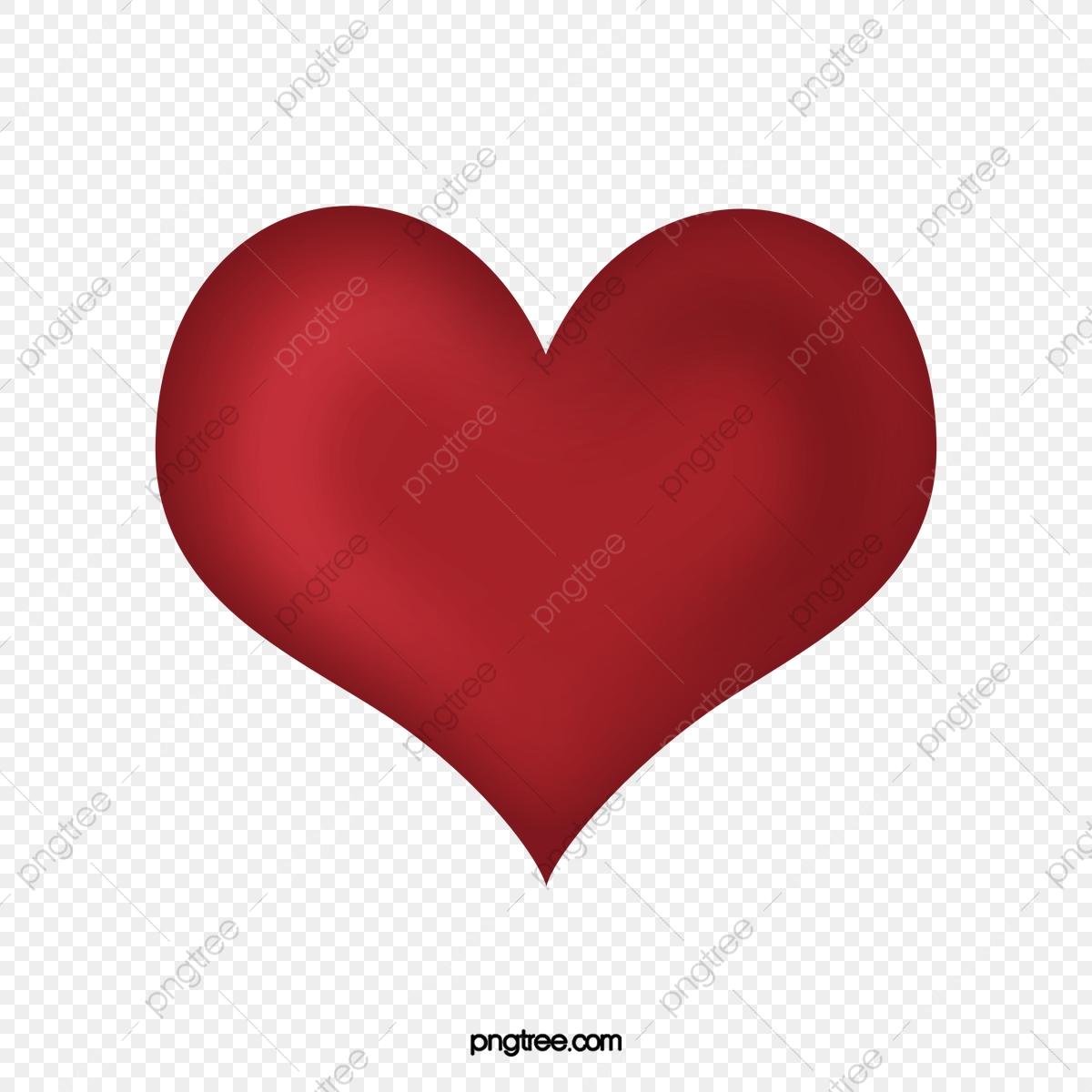 Coeur Rouge Vecteur Tridimensionnel Standard, Le Vecteur Du Coeur.