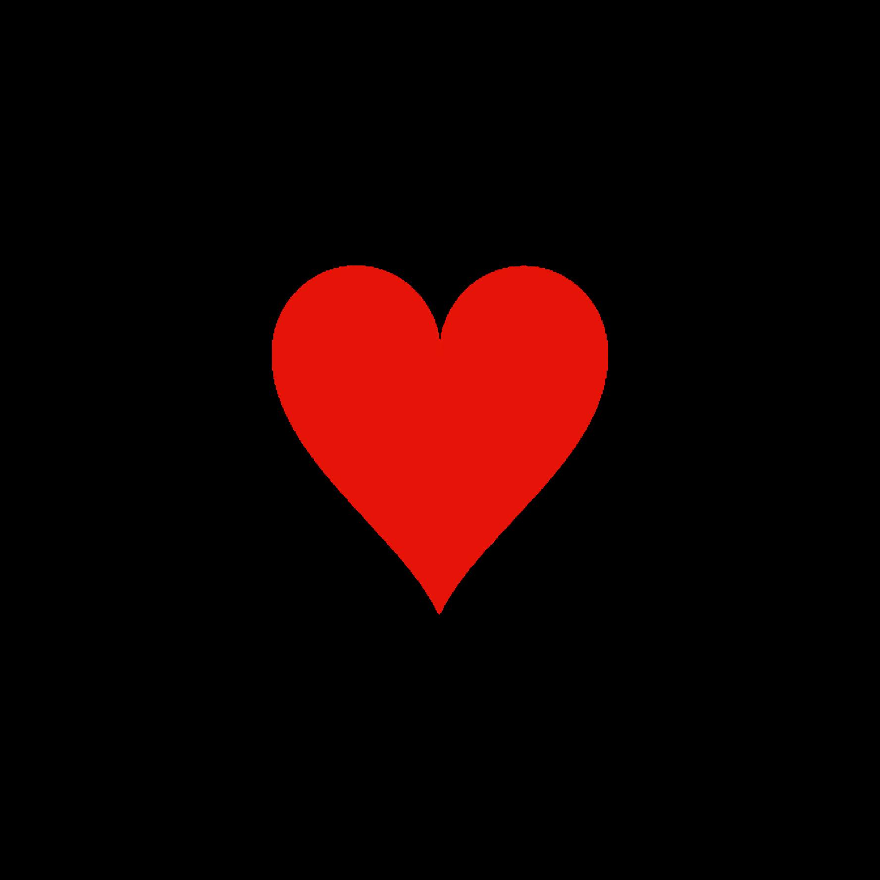 Coeur rouge simple png 7 » PNG Image.
