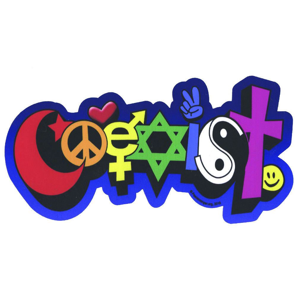 Image result for coexist clipart.