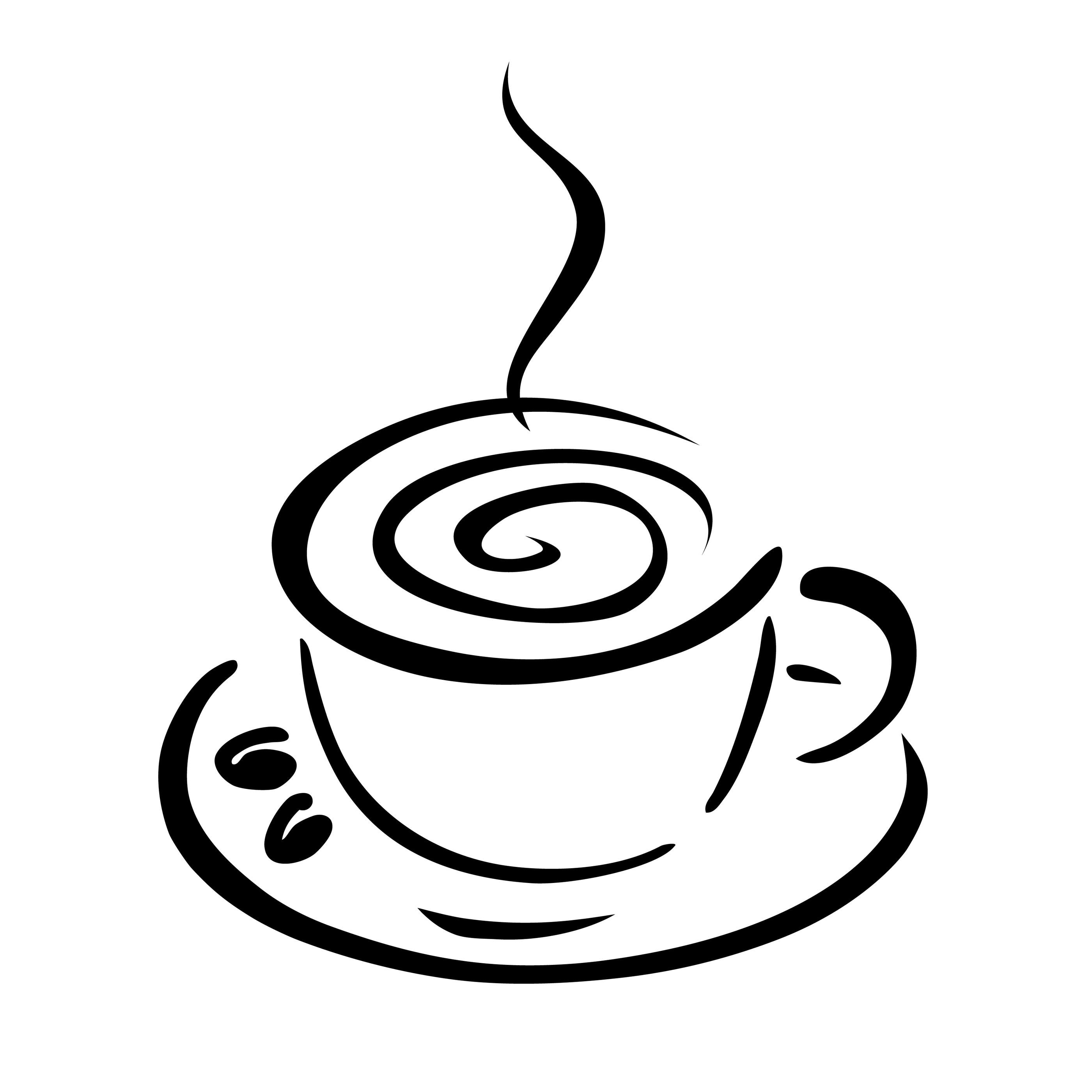 Coffee Cup Clip Art Black White.