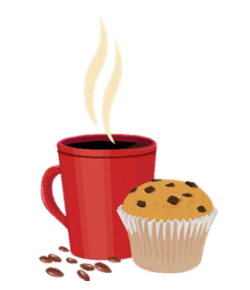 Coffee and cake clipart #5
