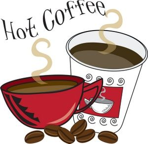 Coffee and cake clipart.