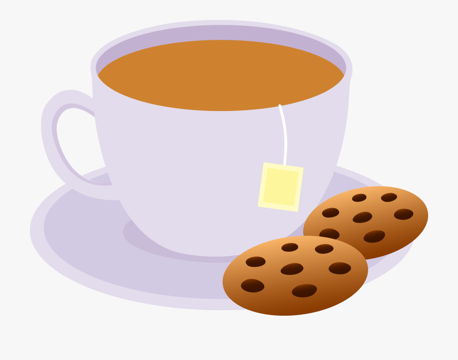 Clipart Of Evening, Tea And Cookies.