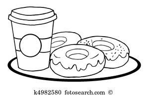 Coffee doughnuts Clip Art EPS Images. 872 coffee doughnuts clipart.