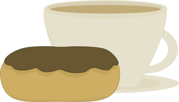 Coffee and Donut Clip Art.
