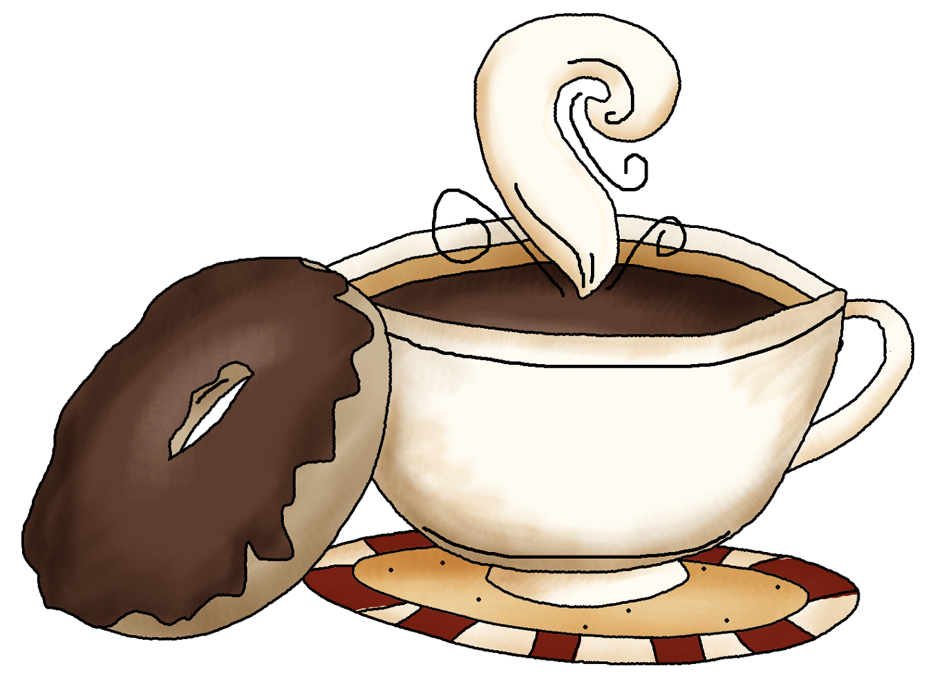 Coffee And Donut Clipart.