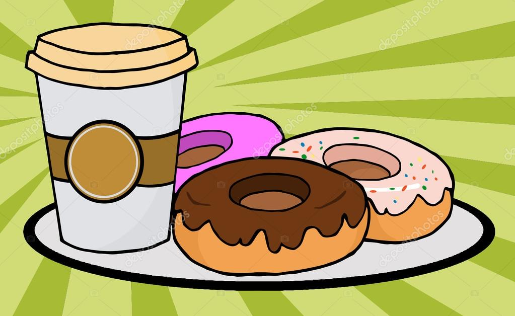 Coffe Cup With Donuts — Stock Photo © HitToon #4727474.