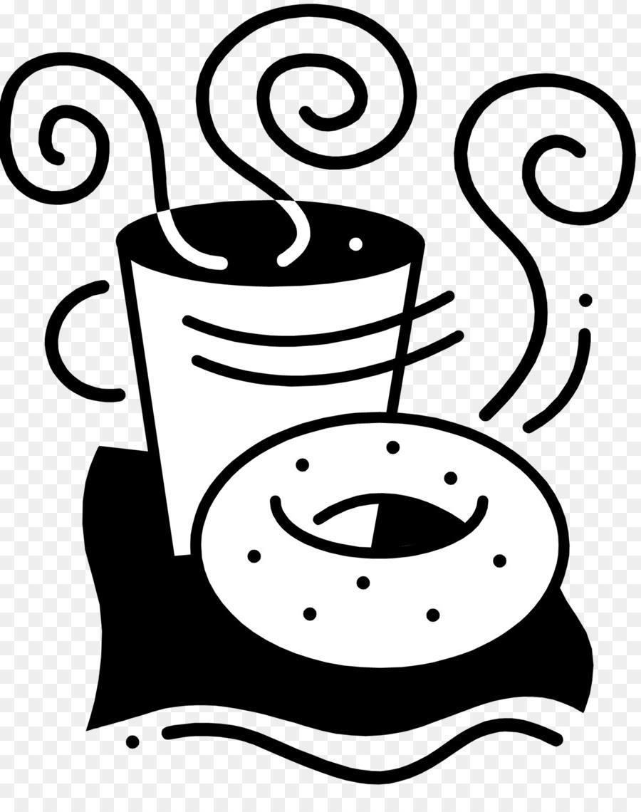 HD Coffee And Donuts Clip Art Black And White Design » Free Vector.