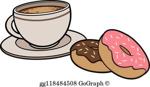 Donuts And Coffee Clip Art.