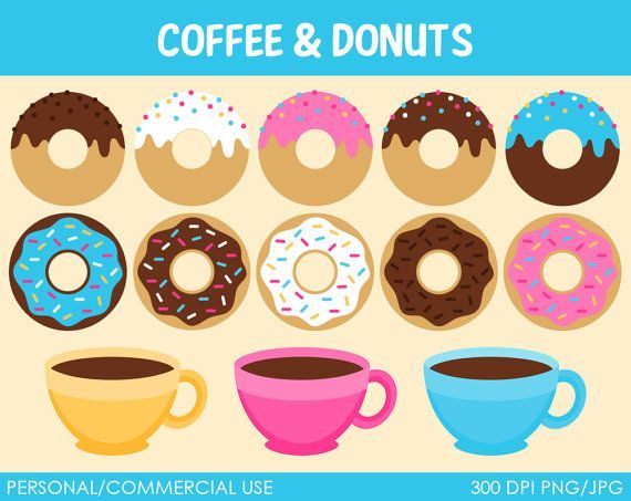 Coffee and Donuts Clip Art Free.