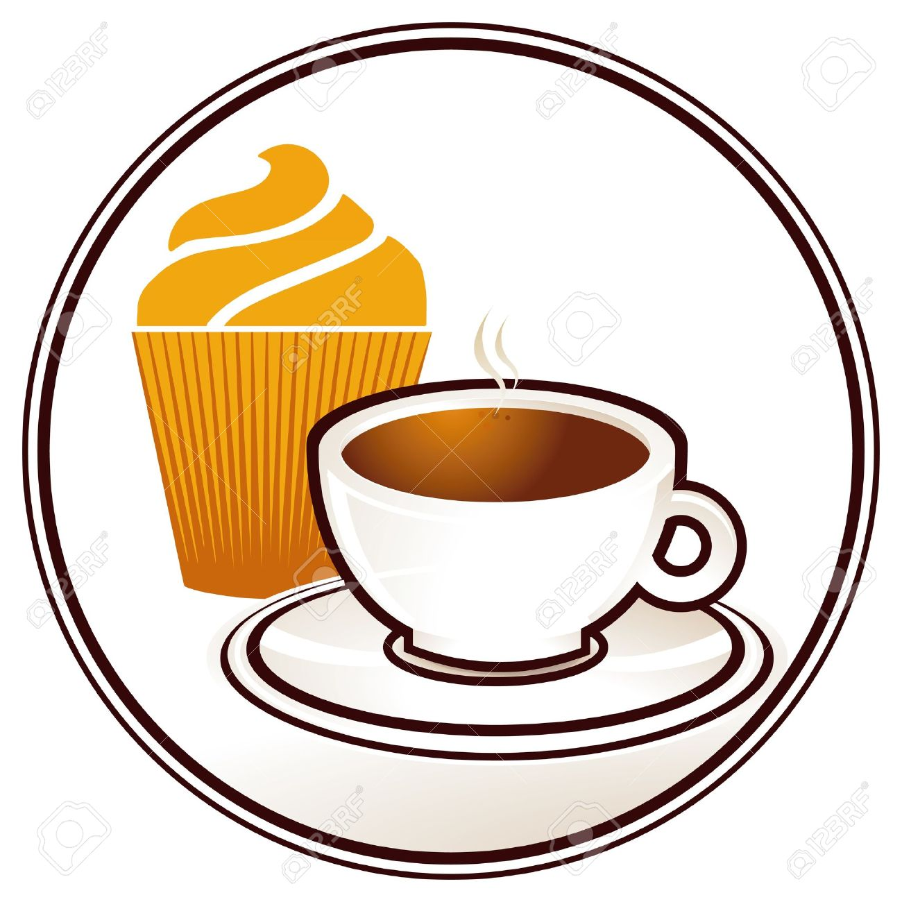 Coffee And Muffin Clipart.