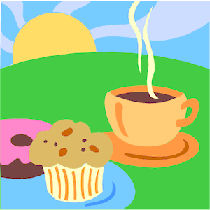 Coffee & Muffin 1 clipart, cliparts of Coffee & Muffin 1.