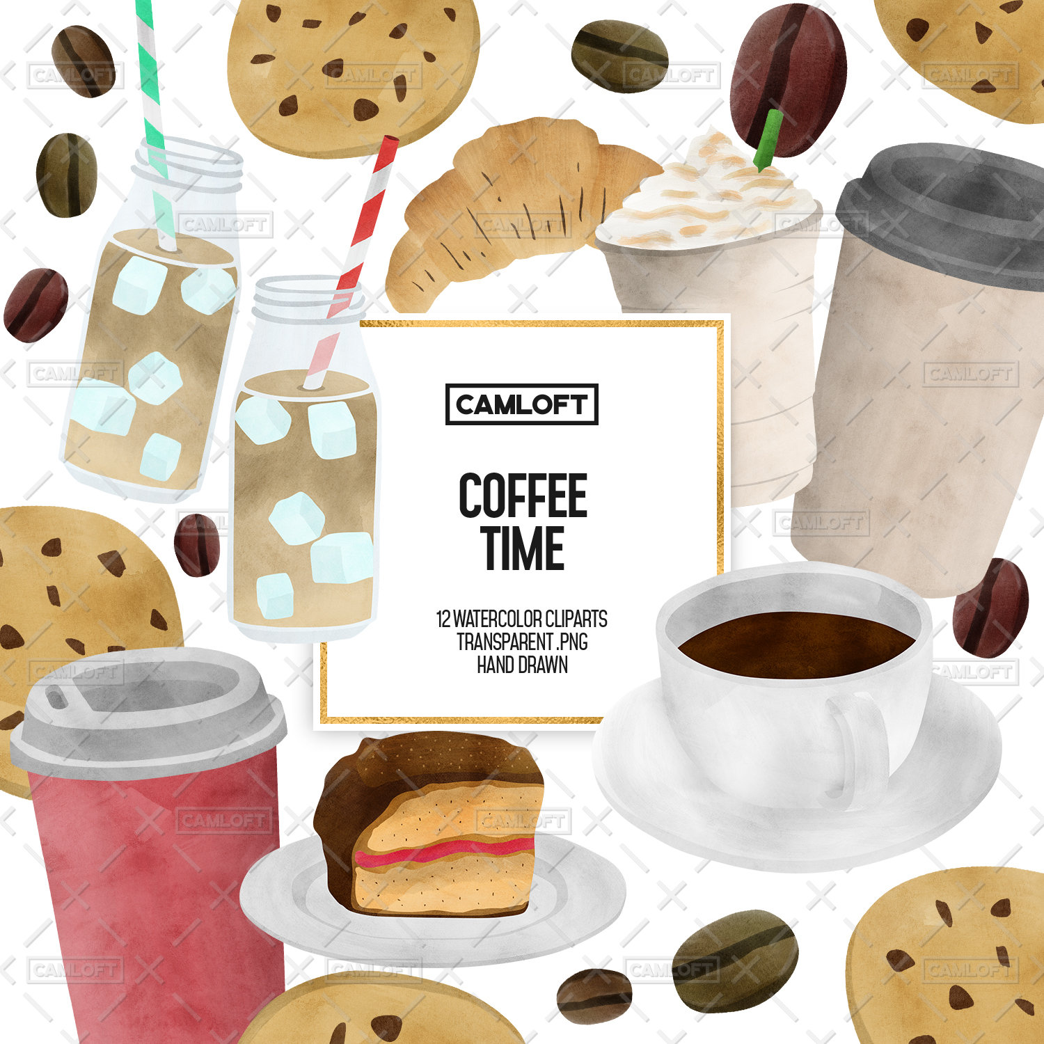 Coffee Watercolor Cliparts, Coffee Clipart, Planner Clip Art, Coffee  Planner, Coffee Stickers, Pastry Clipart, Elegant Planner.