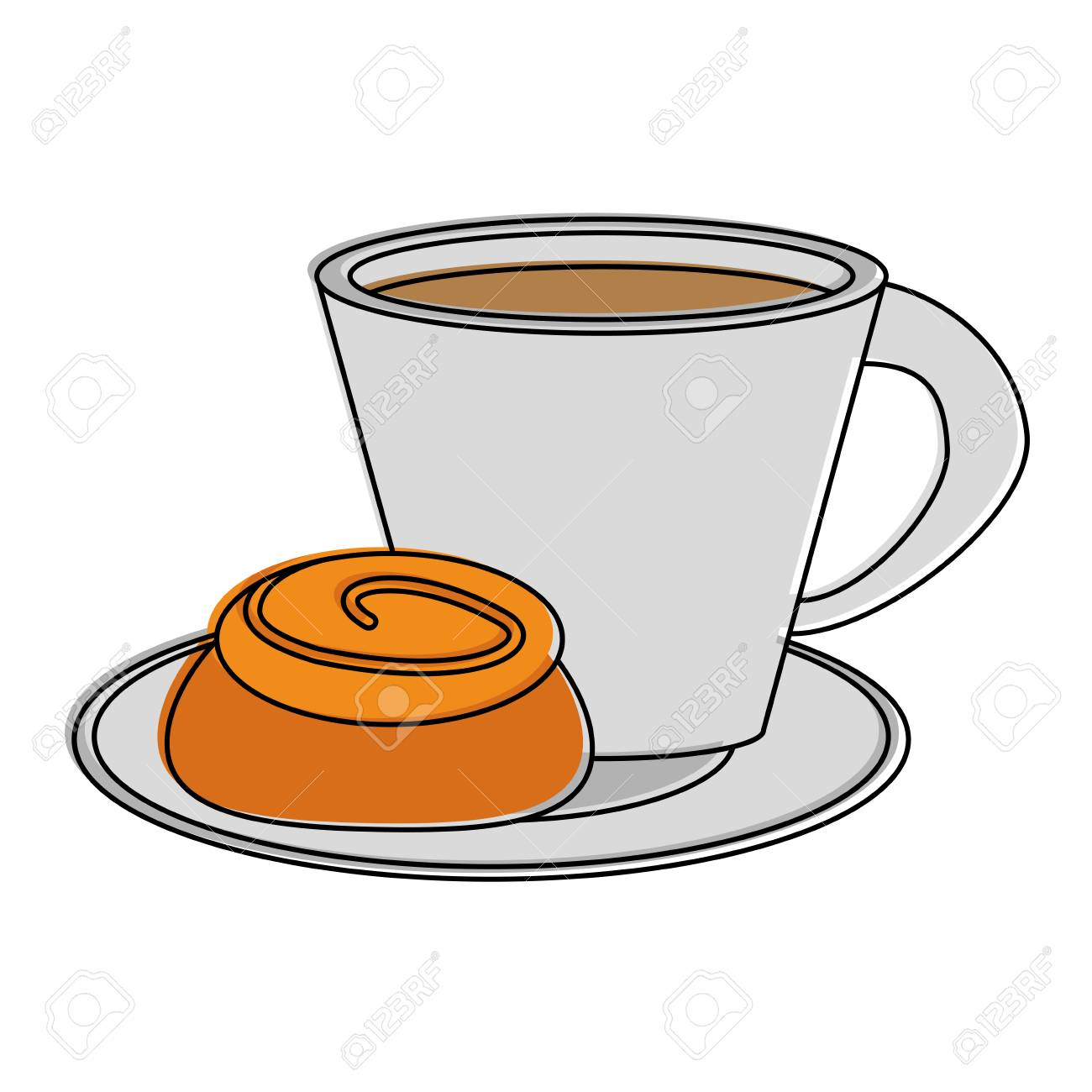 coffee with pastry icon image vector illustration design.
