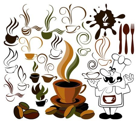 coffee icon and background Clipart Picture Free Download.