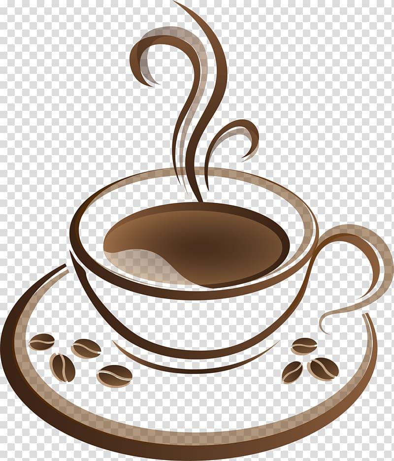 Brown teacup , Coffee cup Tea Cafe, Brown coffee transparent.