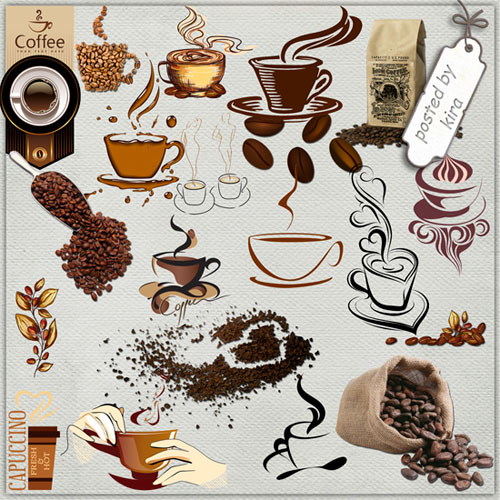 Coffee PNG images, Graphics, PSD files.