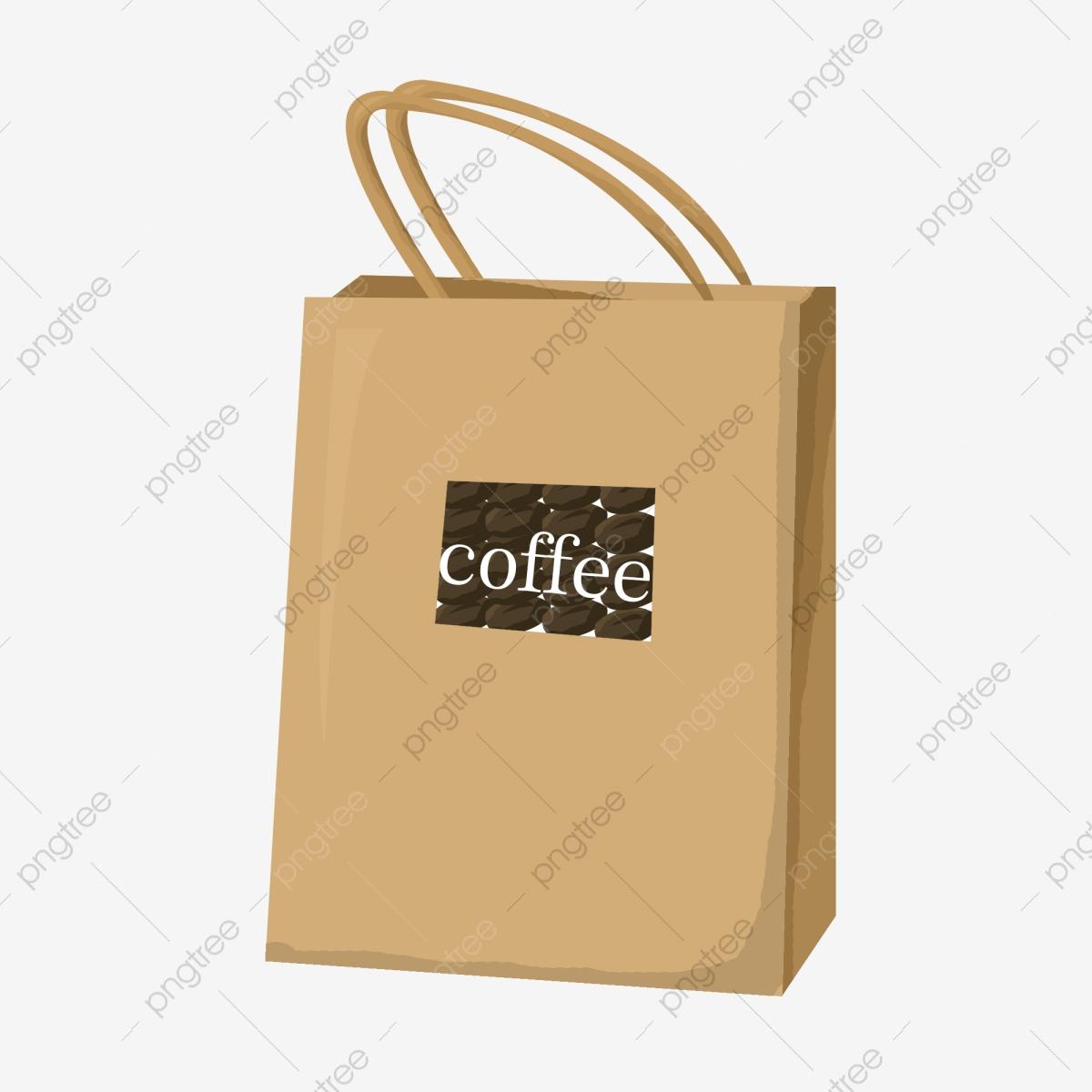 Disposable Coffee Bag Beautiful Coffee Bag Hand Drawn Coffee Bag.