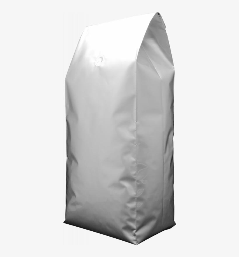 5kg Foil Side Gusset Bag With Valve, Silver.