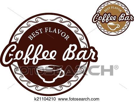 Coffee bar signs Clipart.