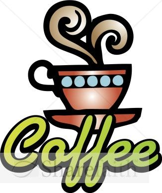 Neon Coffee Sign Clipart.
