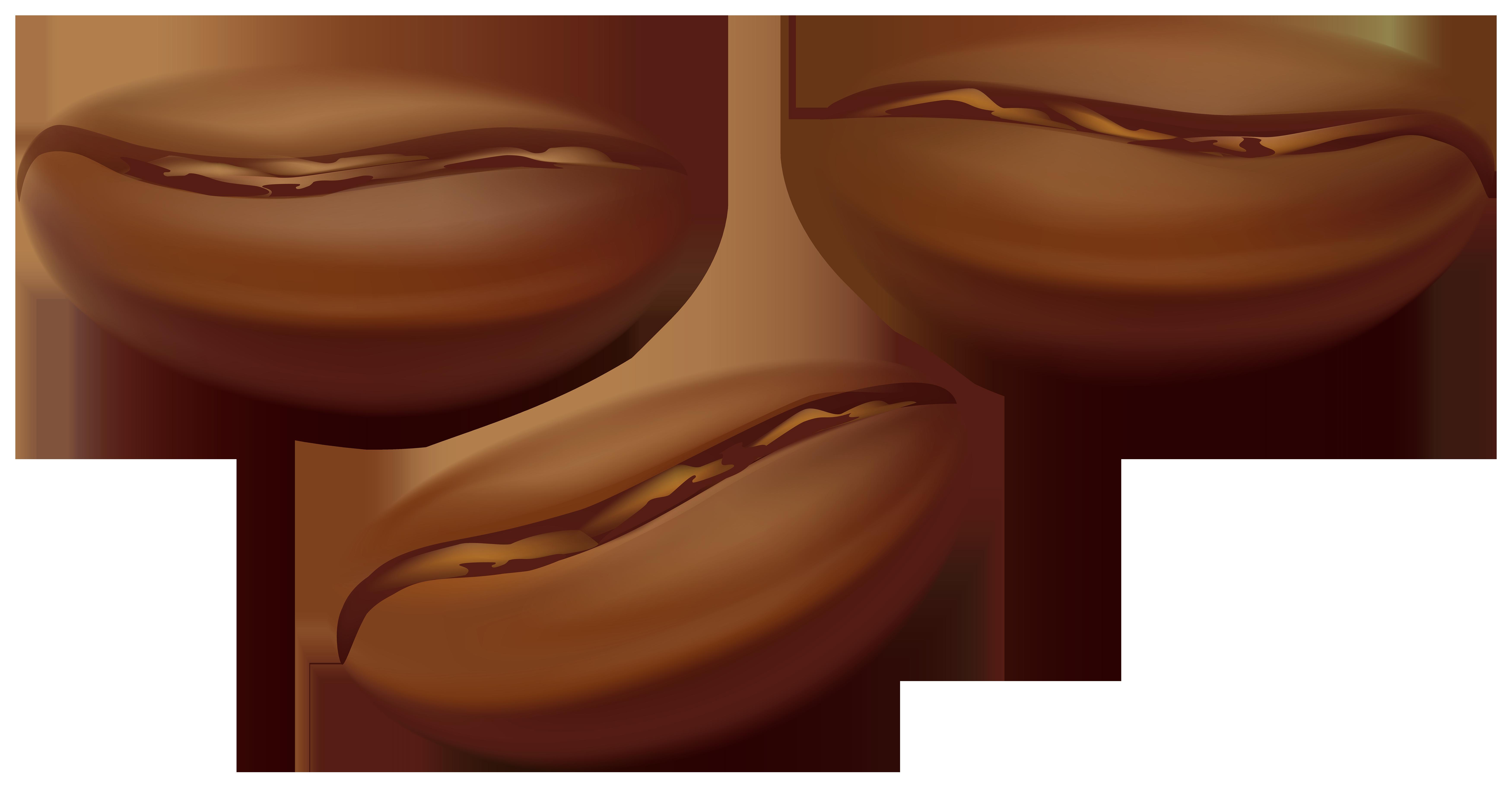 Coffee Beans Transparent PNG Clip Art Image.
