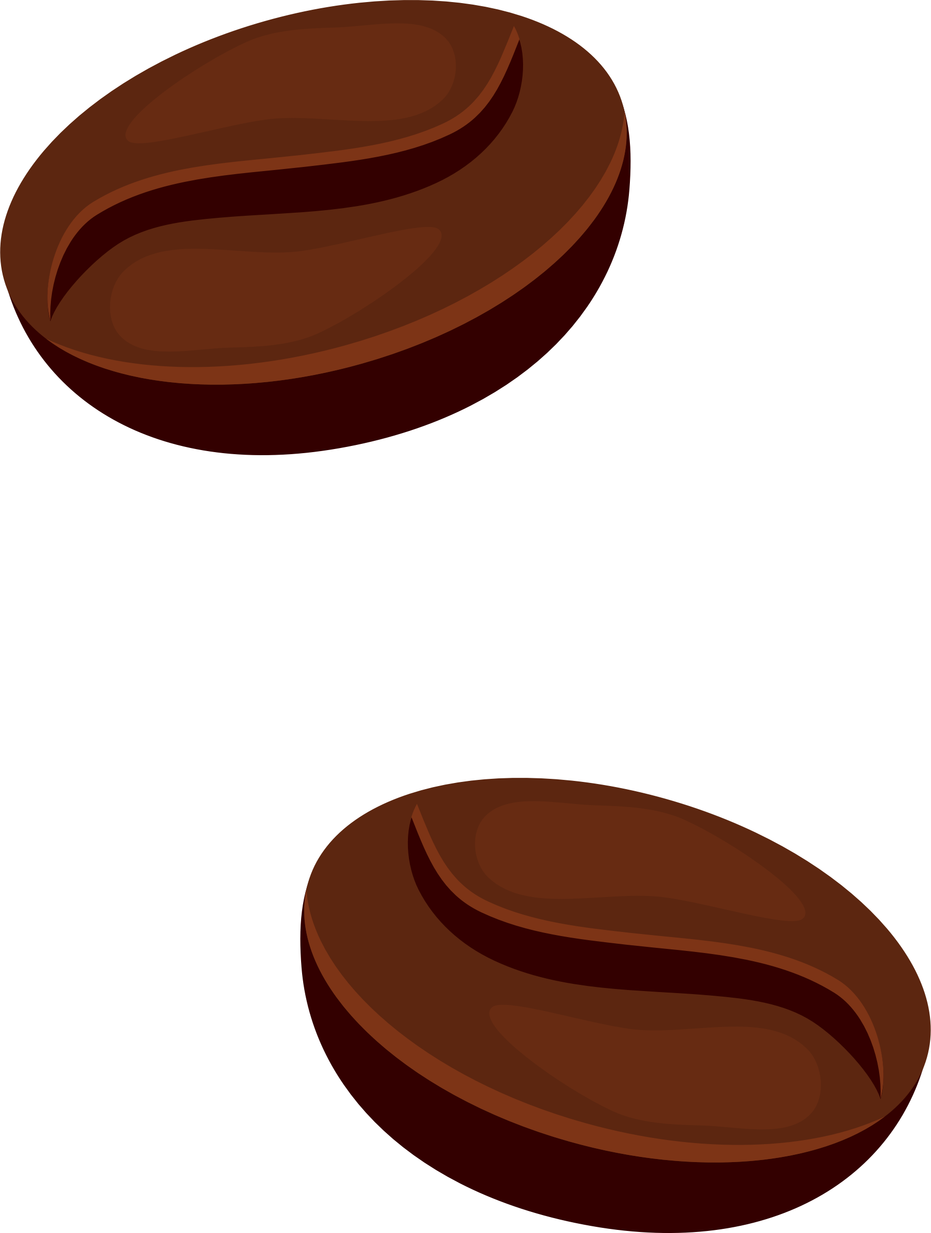 Coffee beans clipart no background.