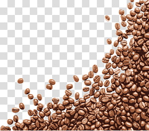 Brown and black beans , Coffee bean Cafe, Small crisp coffee beans.
