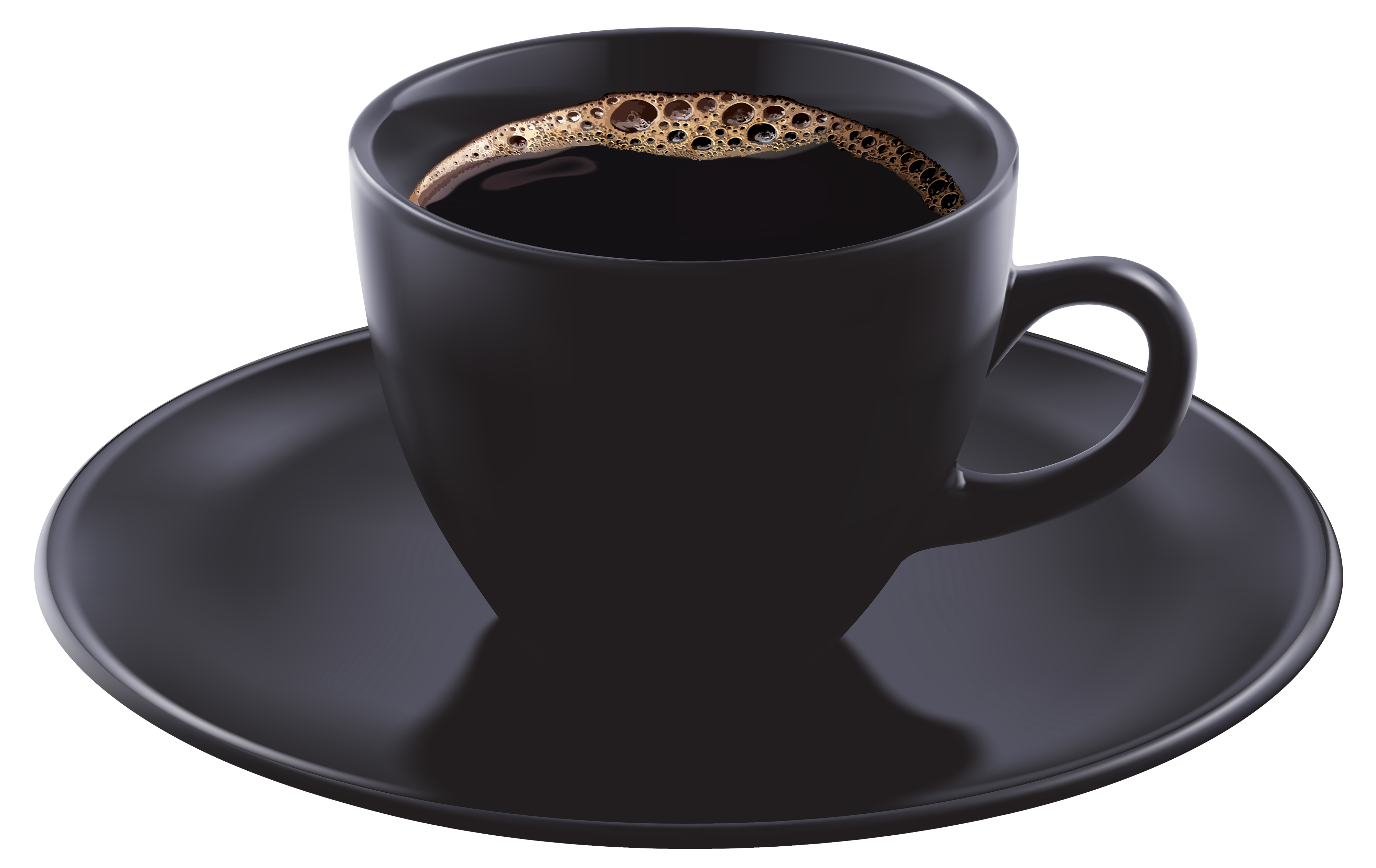 Black Coffee Cup PNG Clipart Image.