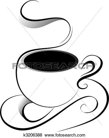 Clip Art of Line art coffee 5 k3933266.