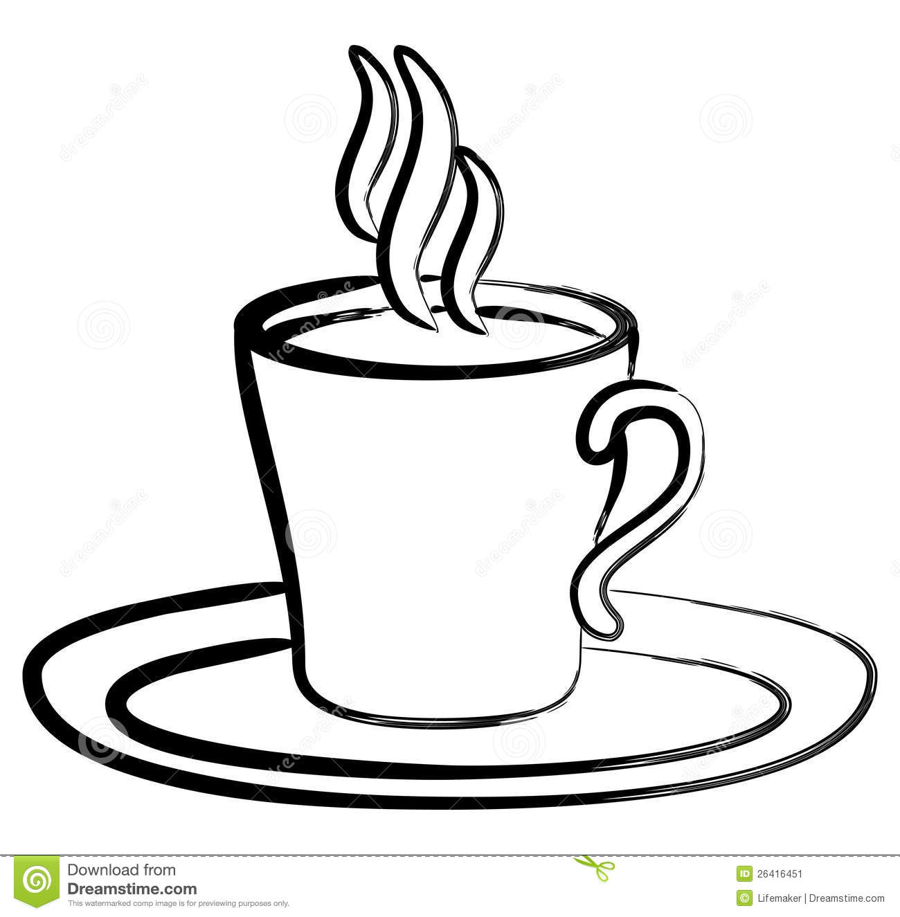 Coffee Black And White Clipart.