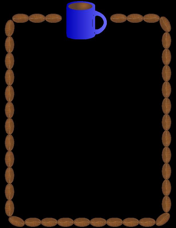 Download coffee border clip art clipart Coffee Latte Clip art.