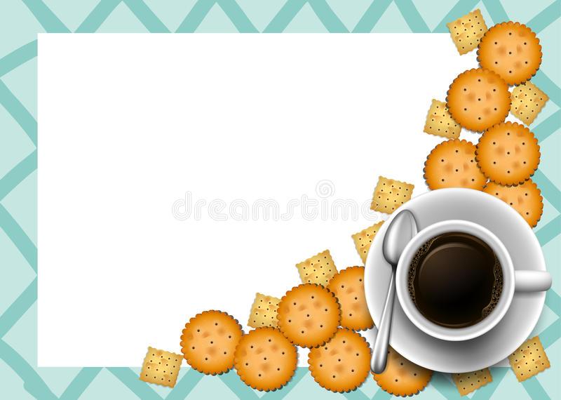 Coffee Border Stock Illustrations.