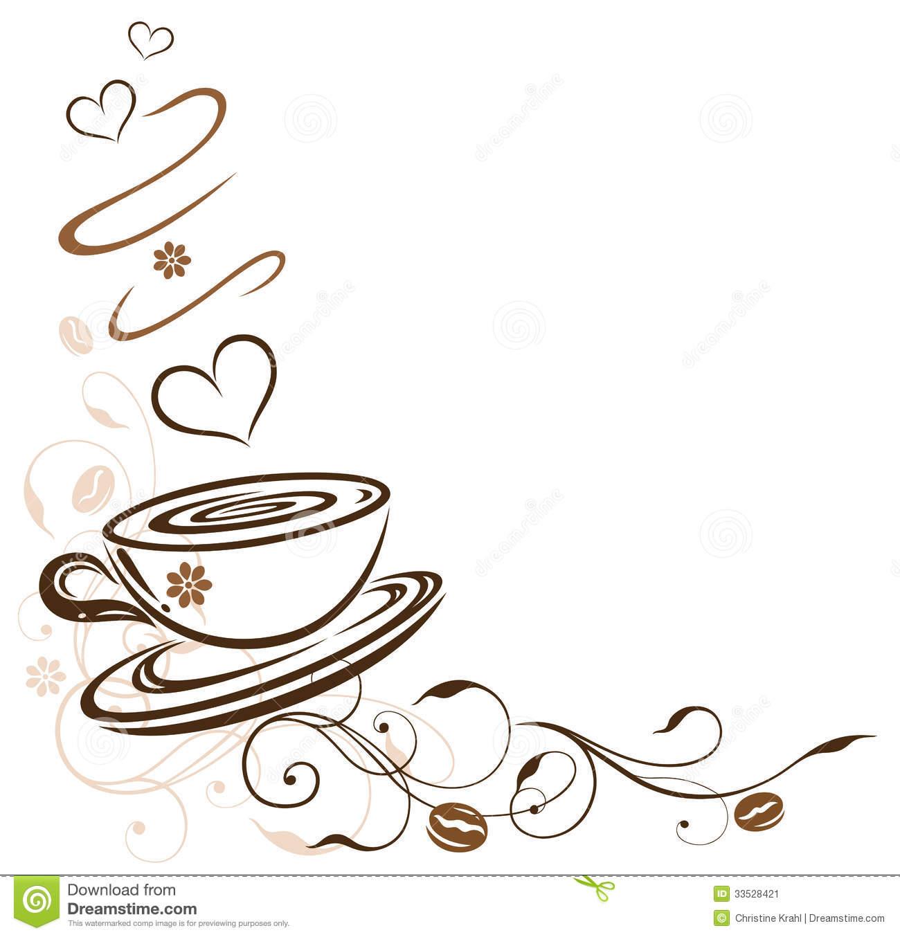 Free Clipart Coffee Borders.