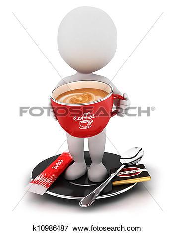 Clip Art of Coffee break sign k8681482.