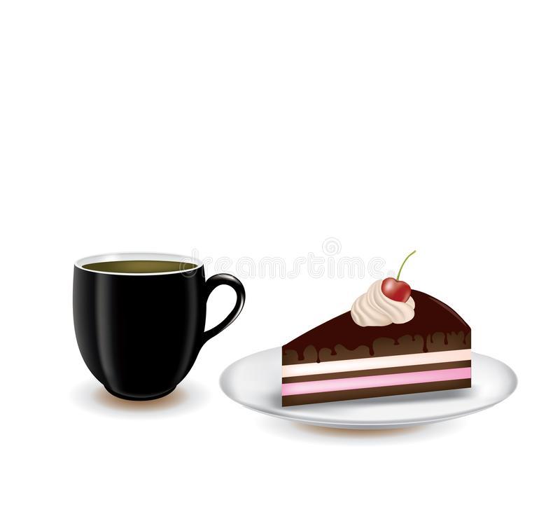 Coffee Cake Stock Illustrations.