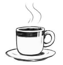 Image result for hot coffee clipart black and white.