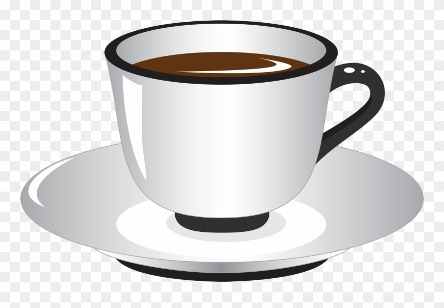 White And Black Coffee Cup Png Clipart.