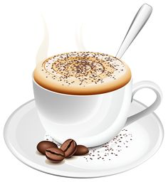 Coffee with Cream PNG Clipart Picture.