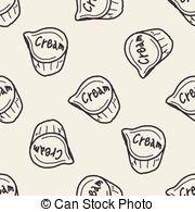 Vector Clipart of creamer doodle csp27147509.