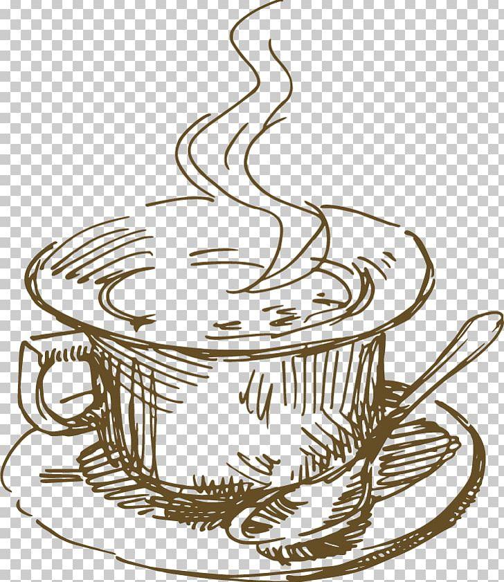Coffee Cup Tea Cocktail Cafe PNG, Clipart, Arrow Sketch, Beer Mug.
