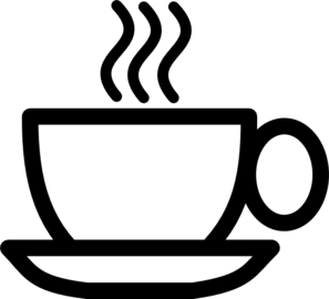 B/w Coffee Cup Clip Art at Clker.com.
