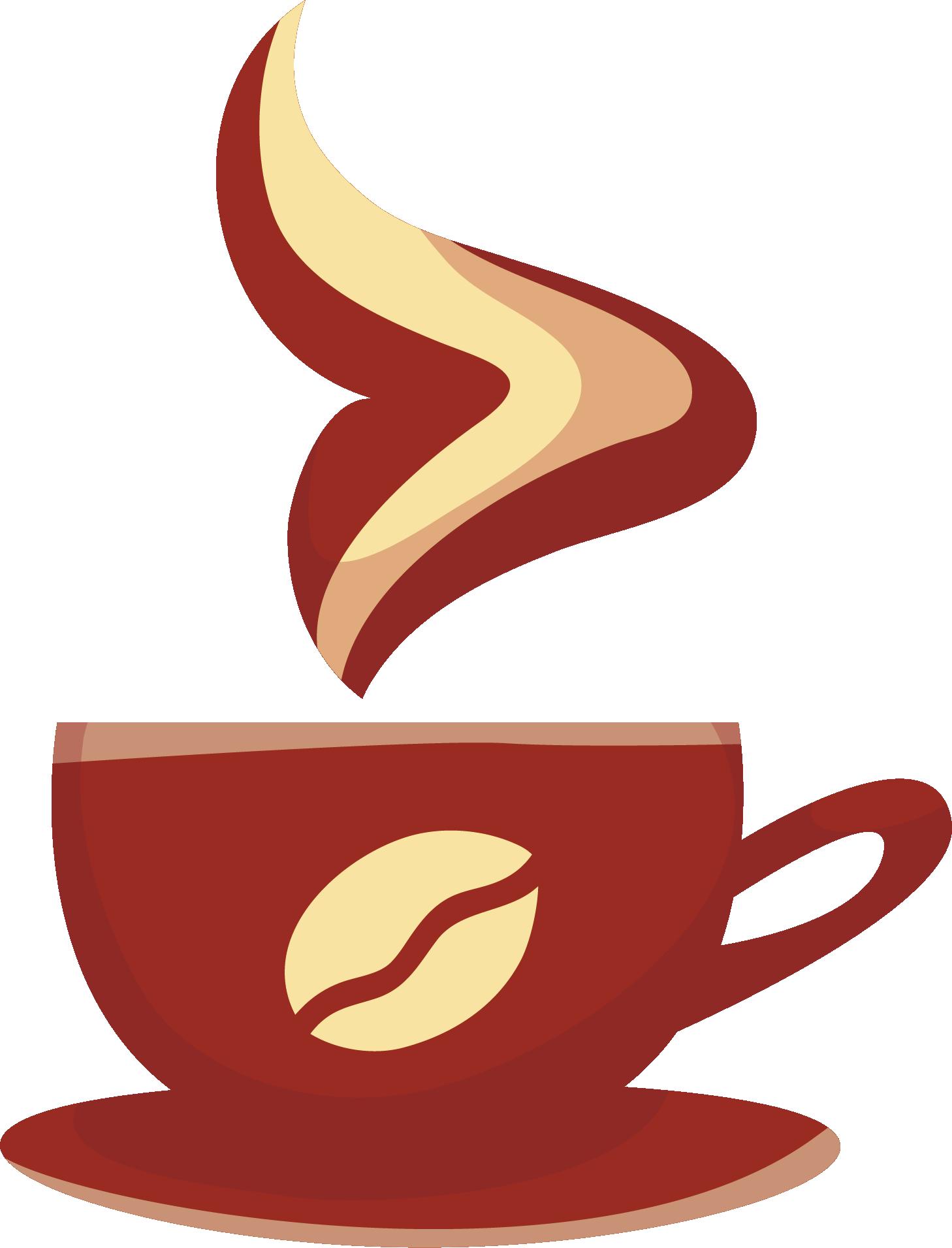 HD Mug Clipart Coffee Bagel.