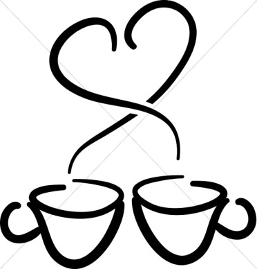 Black coffee cup clipart.