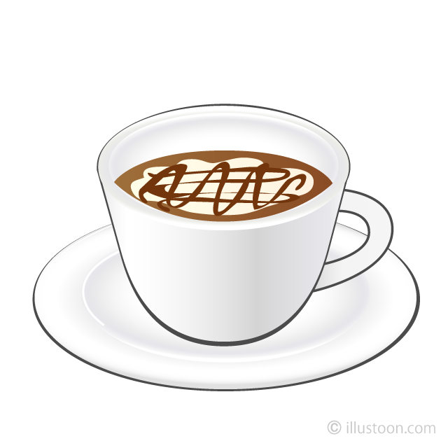 Coffee Latte Cup Clipart Free Picture|Illustoon.