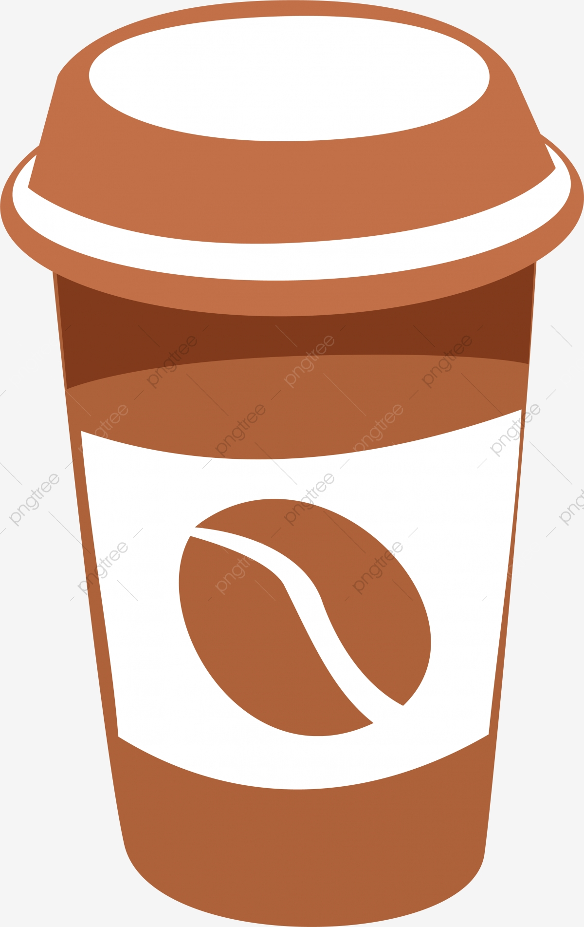 Simple Coffee Cup, Cup Clipart, Simple Cup, Watercolor PNG.