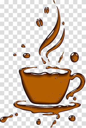Coffee cup illustration, Coffee cup Tea Cafe, Mug transparent.