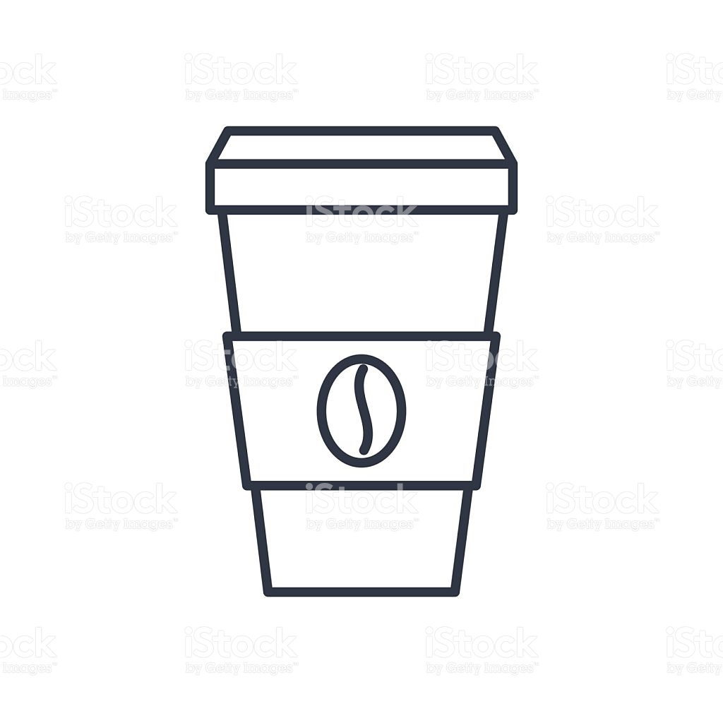coffee cup outline clipart clipground